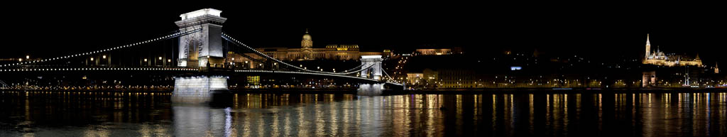 Hungary - Budapest - Buda Castle, Chain Bridge, and Mathias Church - North