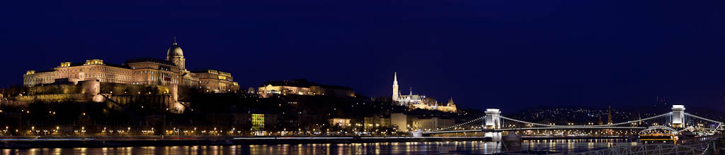 Hungary - Budapest - Buda Castle, Chain Bridge, and Mathias Church - South