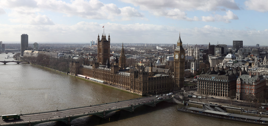 United Kingdom - London - London Eye - Palace of Westminster and Big Ben